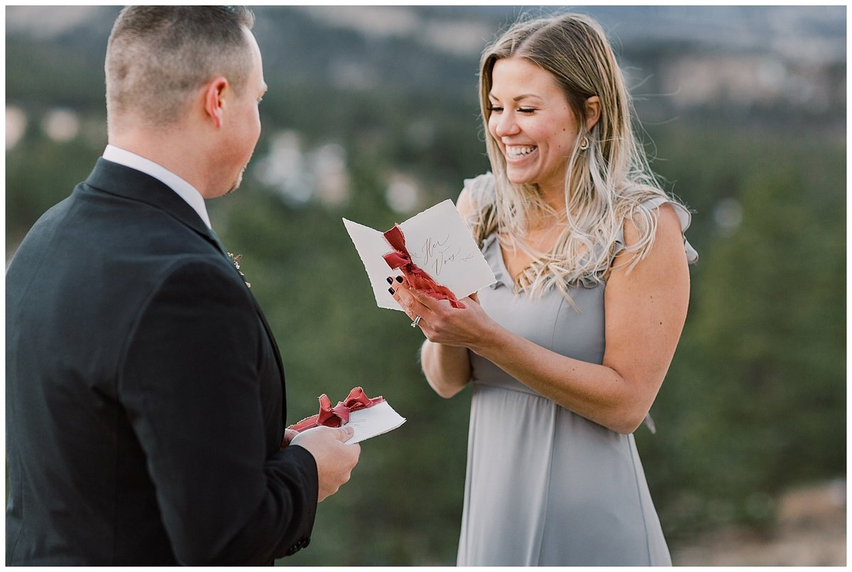 Rocky Mountain National Park Vow Renewal beautifully noted