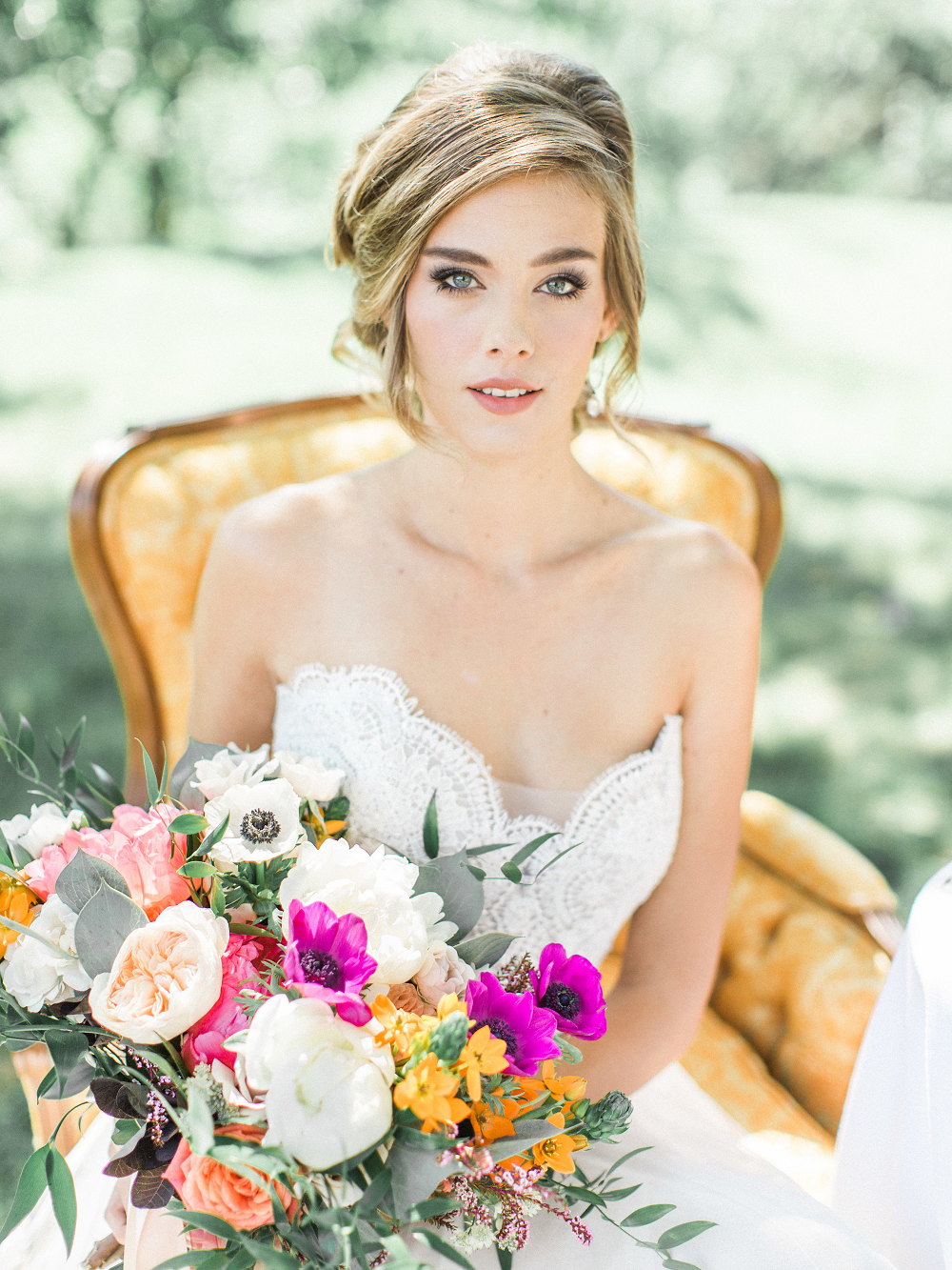 Whimsical Summer Wedding Styled Shoot at Henderson Castle Featured in WeddingDay Magazine Bride and Flowers