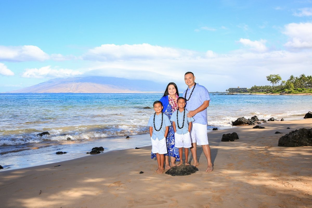 Capture Aloha Photography, Maui Family Portraits with beautiful daylight on the beach