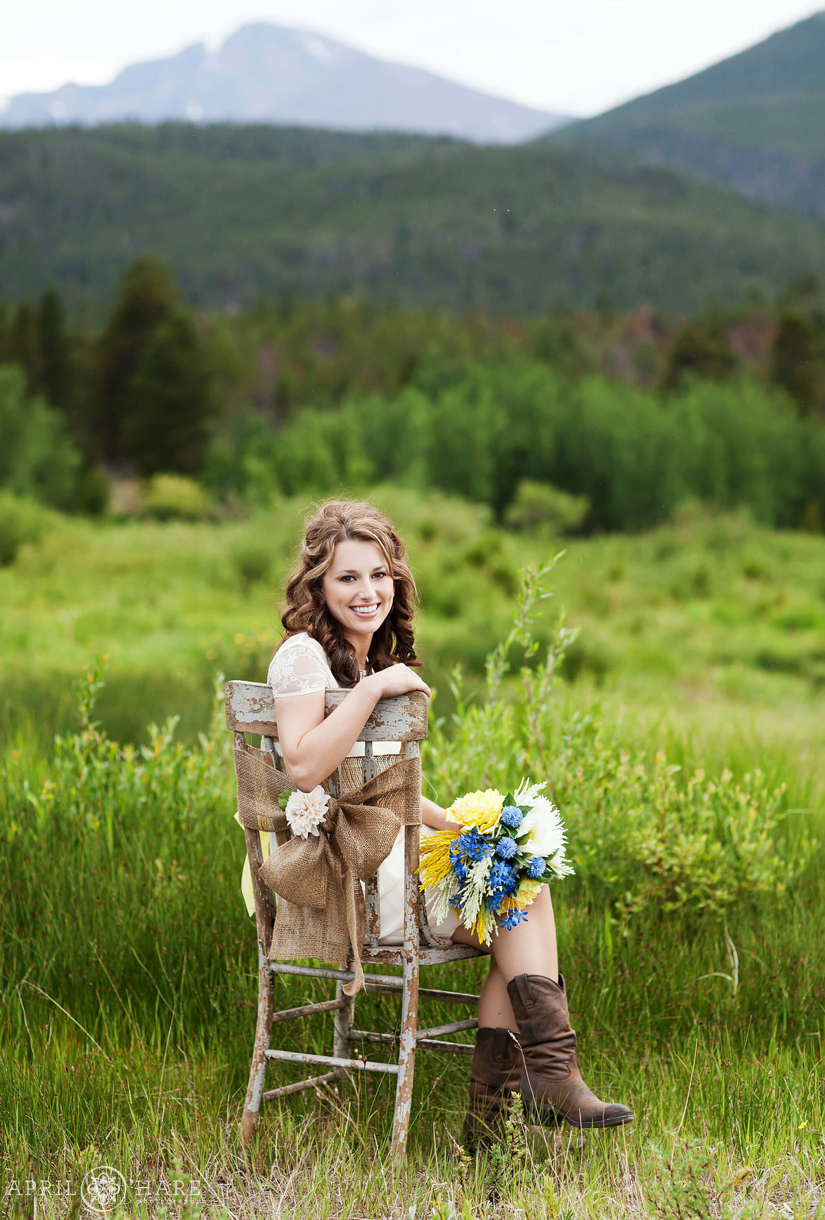 Pretty Rocky Mountain National Park Elopement at Lily Lake in Estes Park Colorado