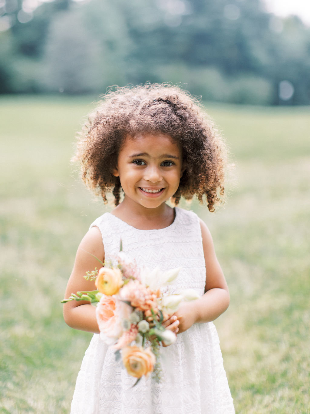 flower girl A Styled Fete wedding florist Delaware