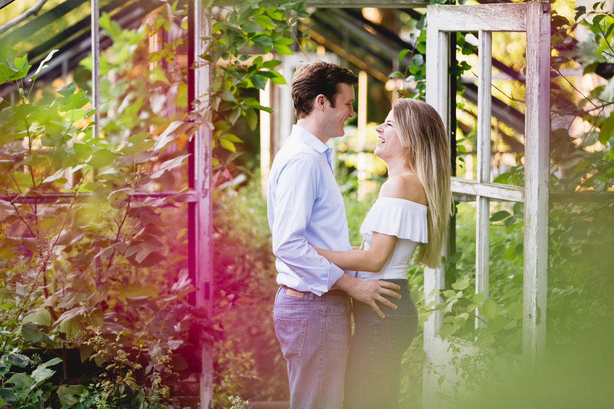 Philadelphia Engagement Session Greenhouse Outdoors 09