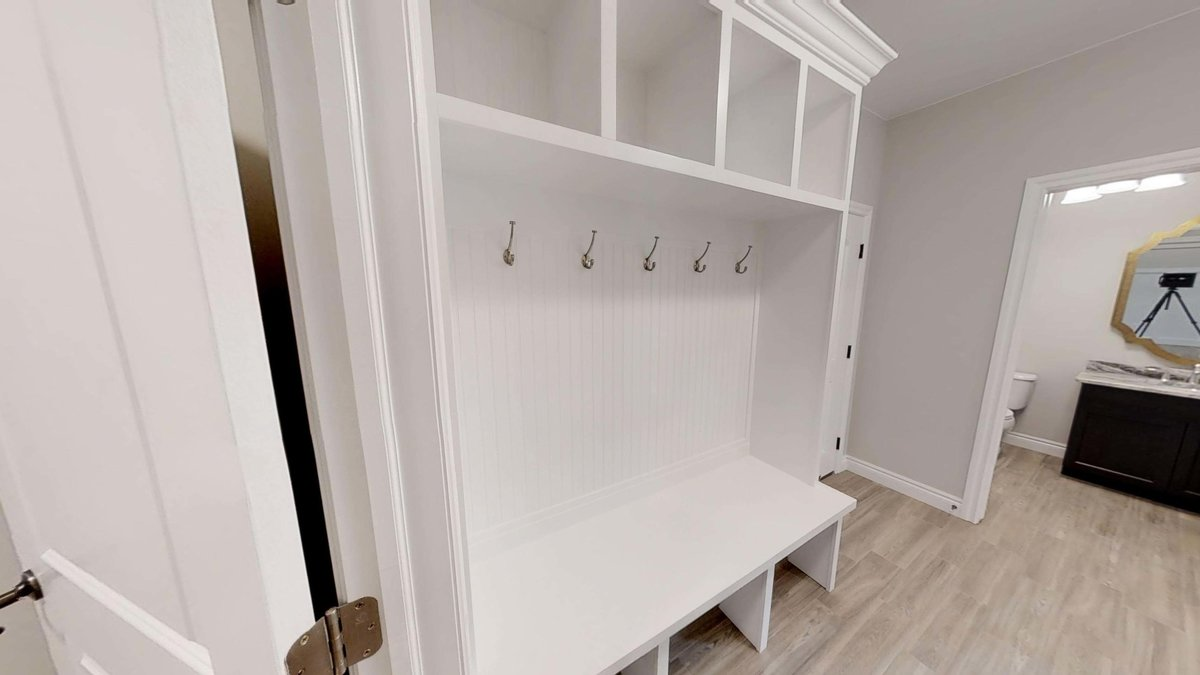custom mudroom bench