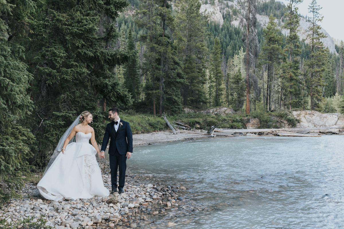 natural bridge yoho national park wedding