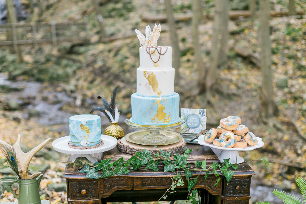 boho sweets table. garden sweets table