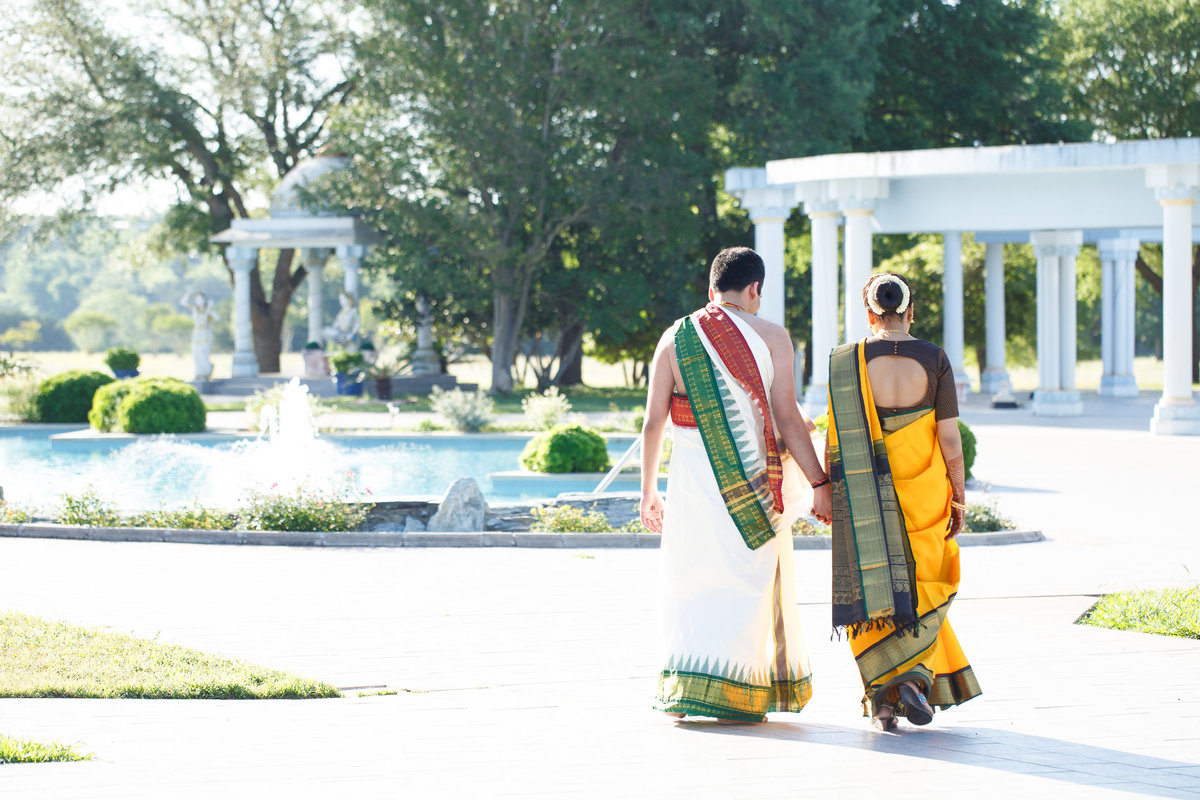 indian wedding photographer bride groom hindu temple architecture austin tx