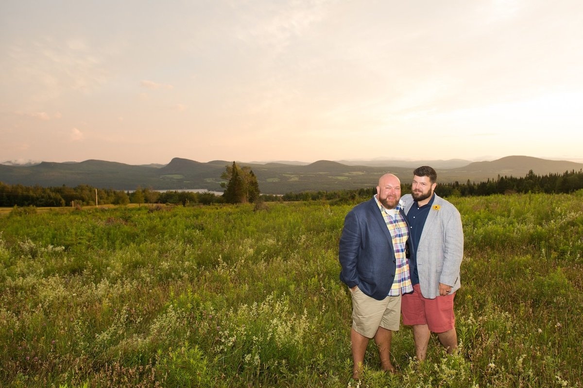 Same sex wedding photographer at Vermont by Lake Willoughby elopement 4
