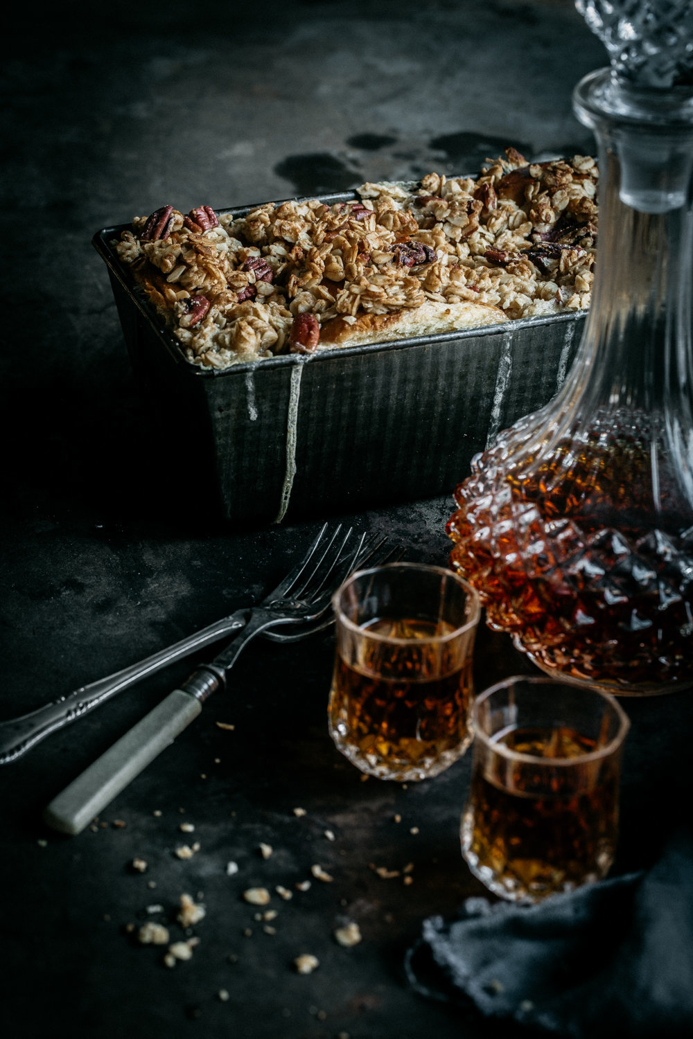 Pecan Crumble Brioche Pudding | Anisa Sabet | The Macadames-251