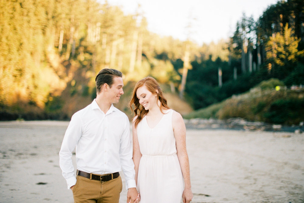 engagement session cannon beach sunrise