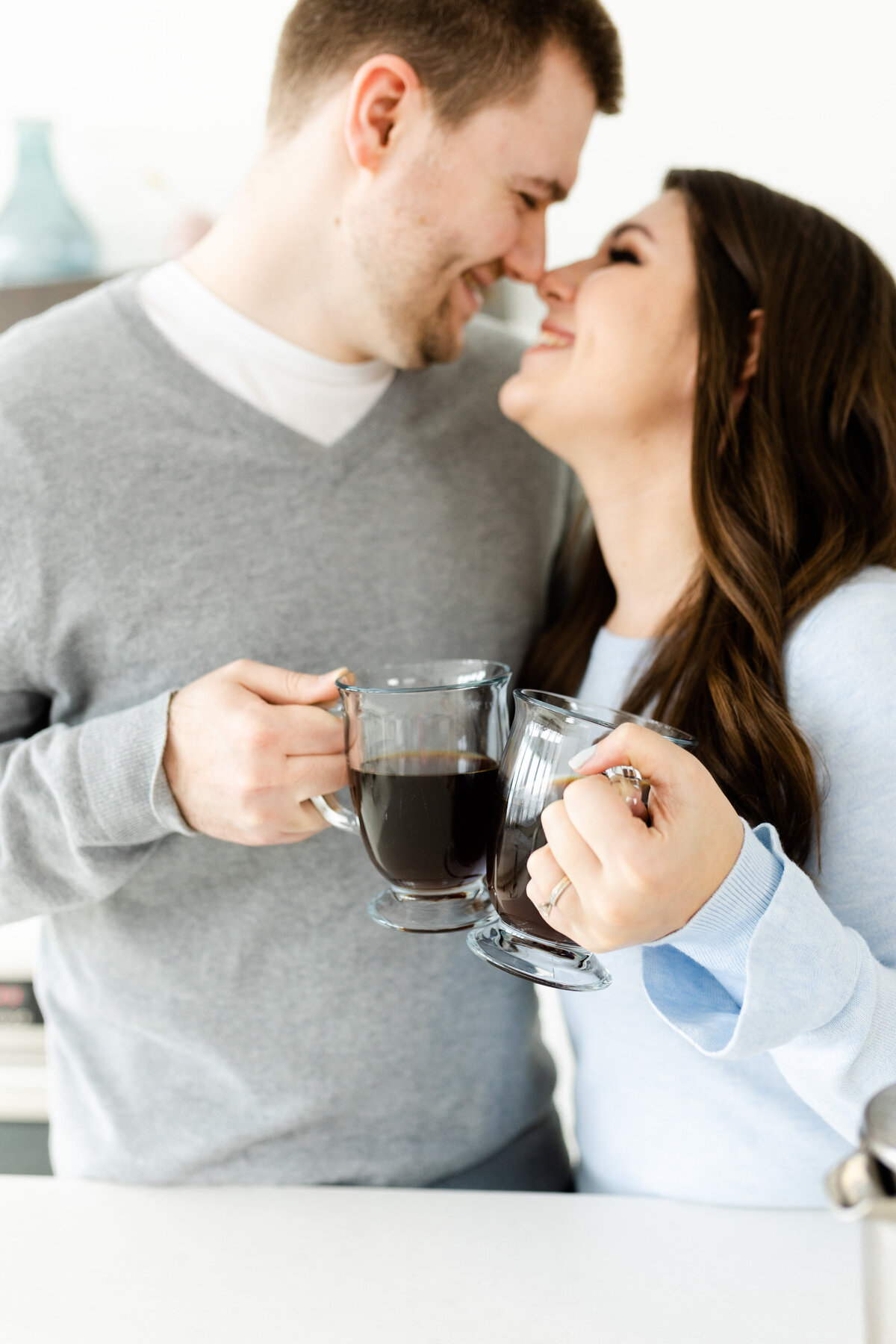 husband and wife team with coffee