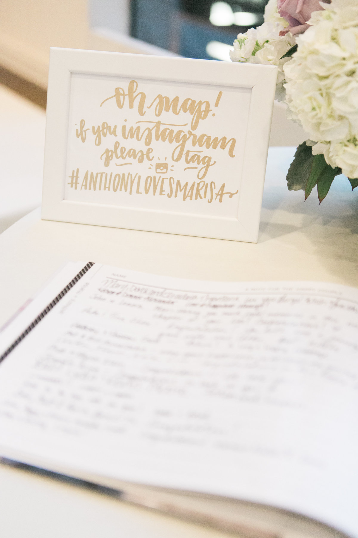 Wedding Reception Details - Guest book