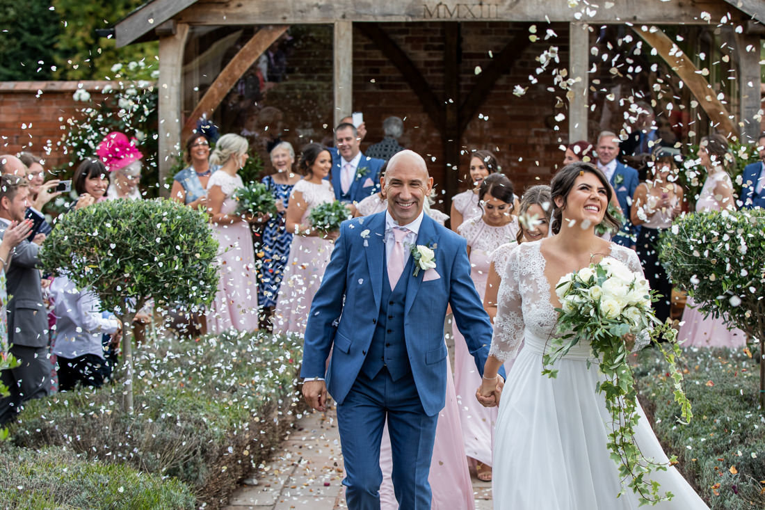 Upton Barn Confetti Wedding Photo