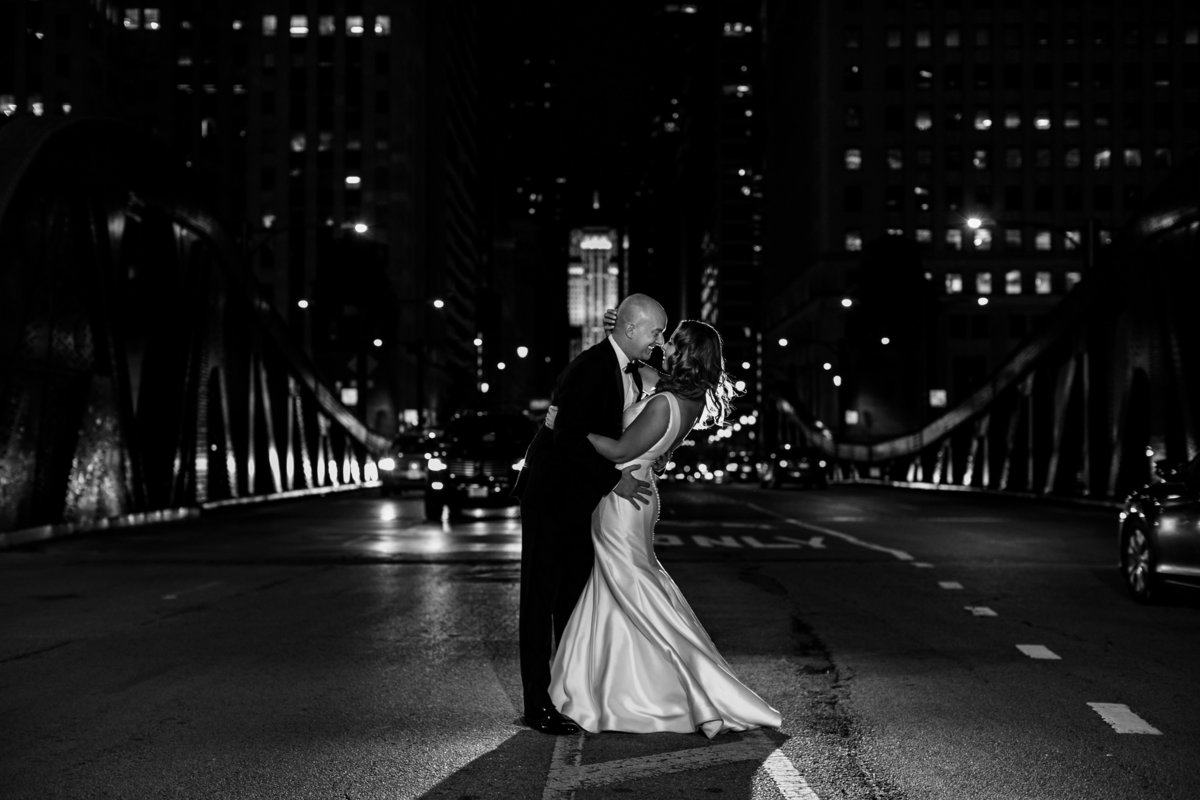 Chicago-Riverwalk-Wedding-Night-Portrait