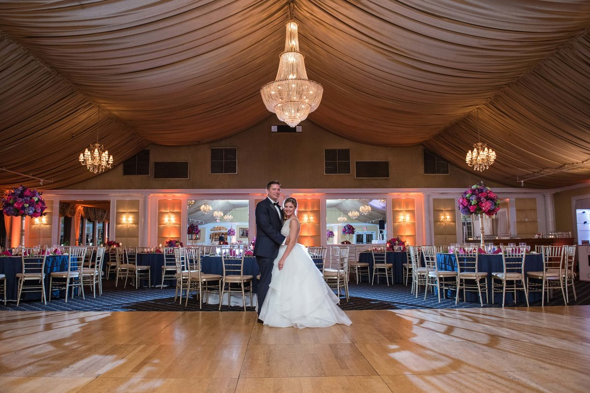 Bride and groom room shot at Bridgeview Yacht Club