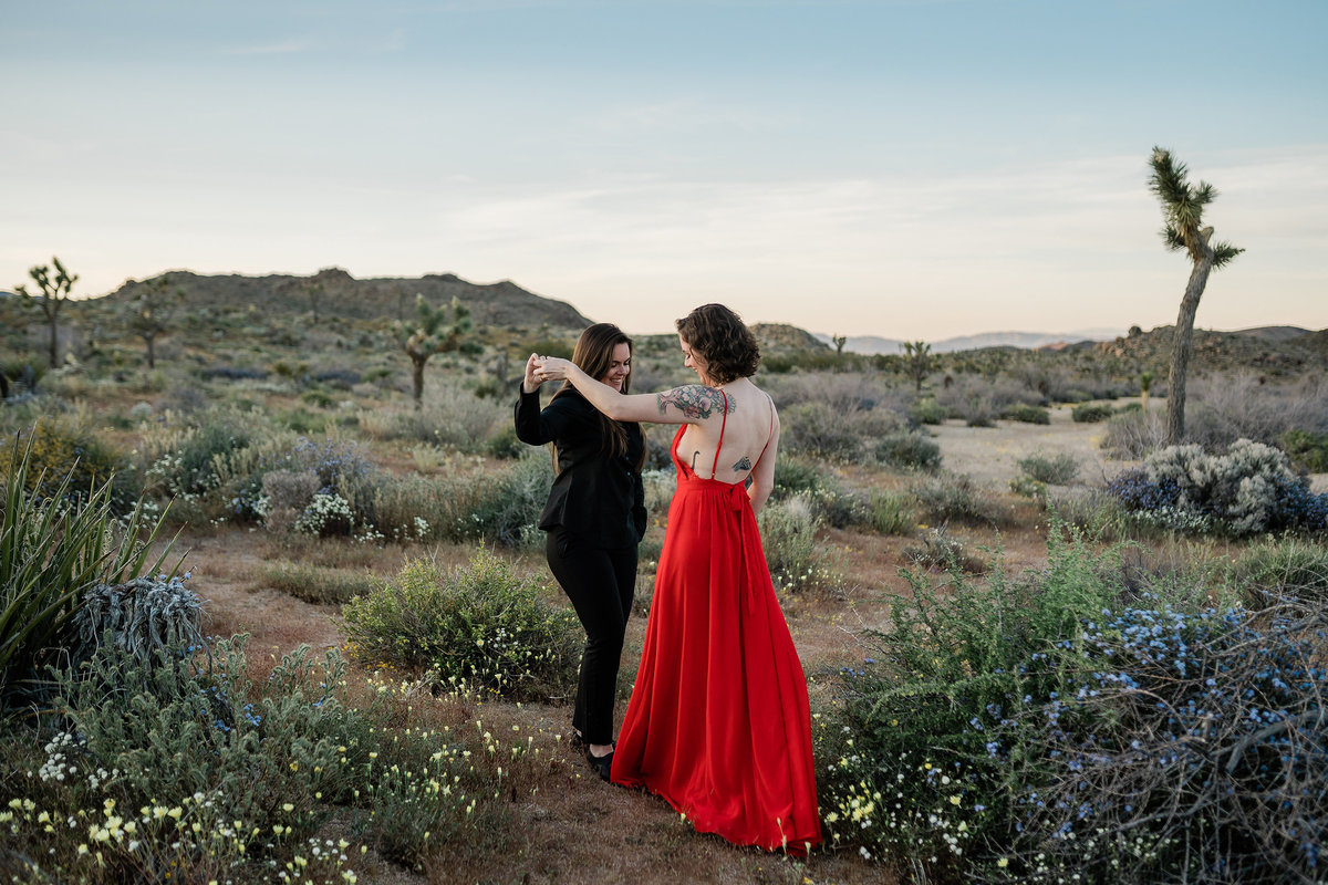 Destination Wedding Photographer | Joshua Tree California Engagement Photos