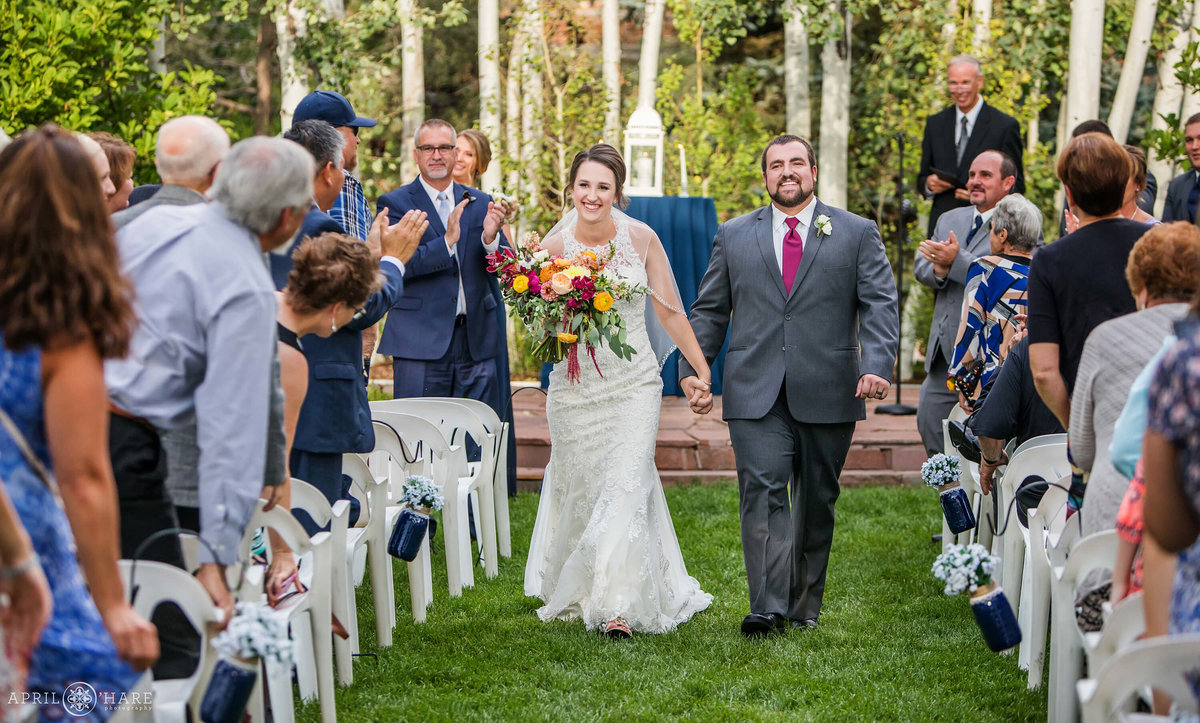 Outdoor Wedding Ceremony at Church Ranch Event Center in Westminster CO
