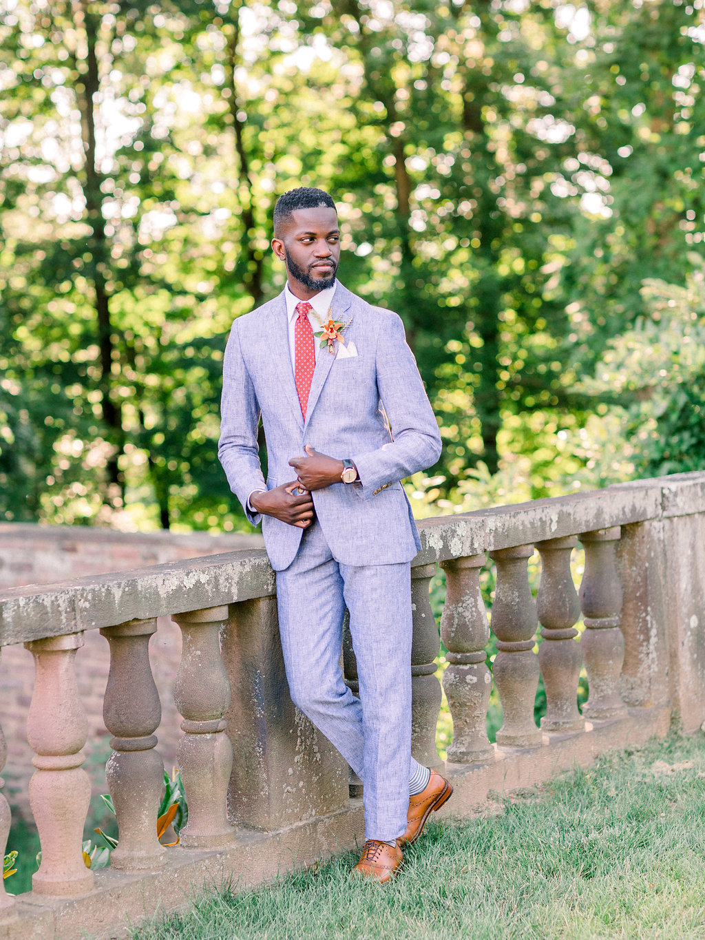 Summer Wedding Tyler Gardens Philadelphia groom