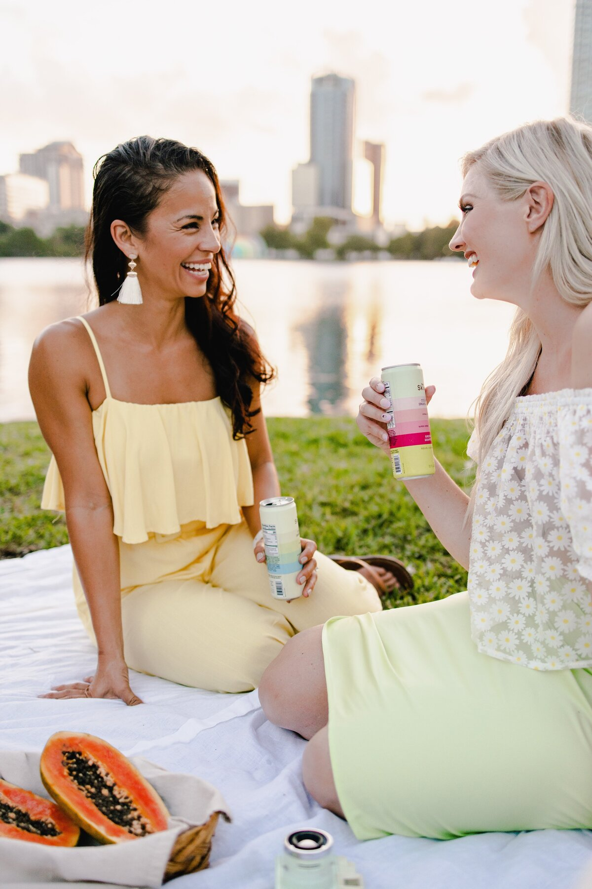 Lifestyle picnic videography for SkinTe Collagen beverage by Alex Perry