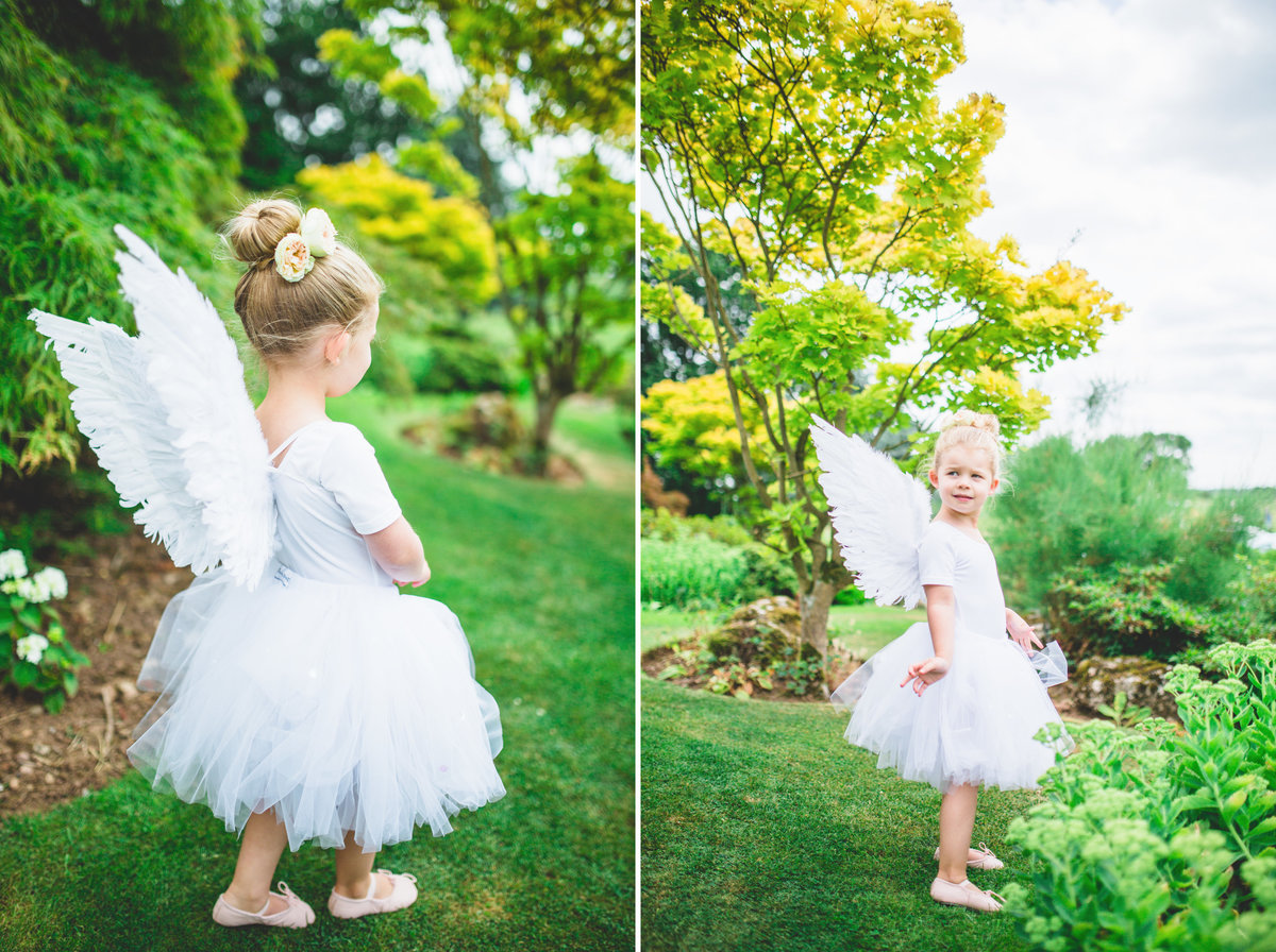 flower girl angel wings