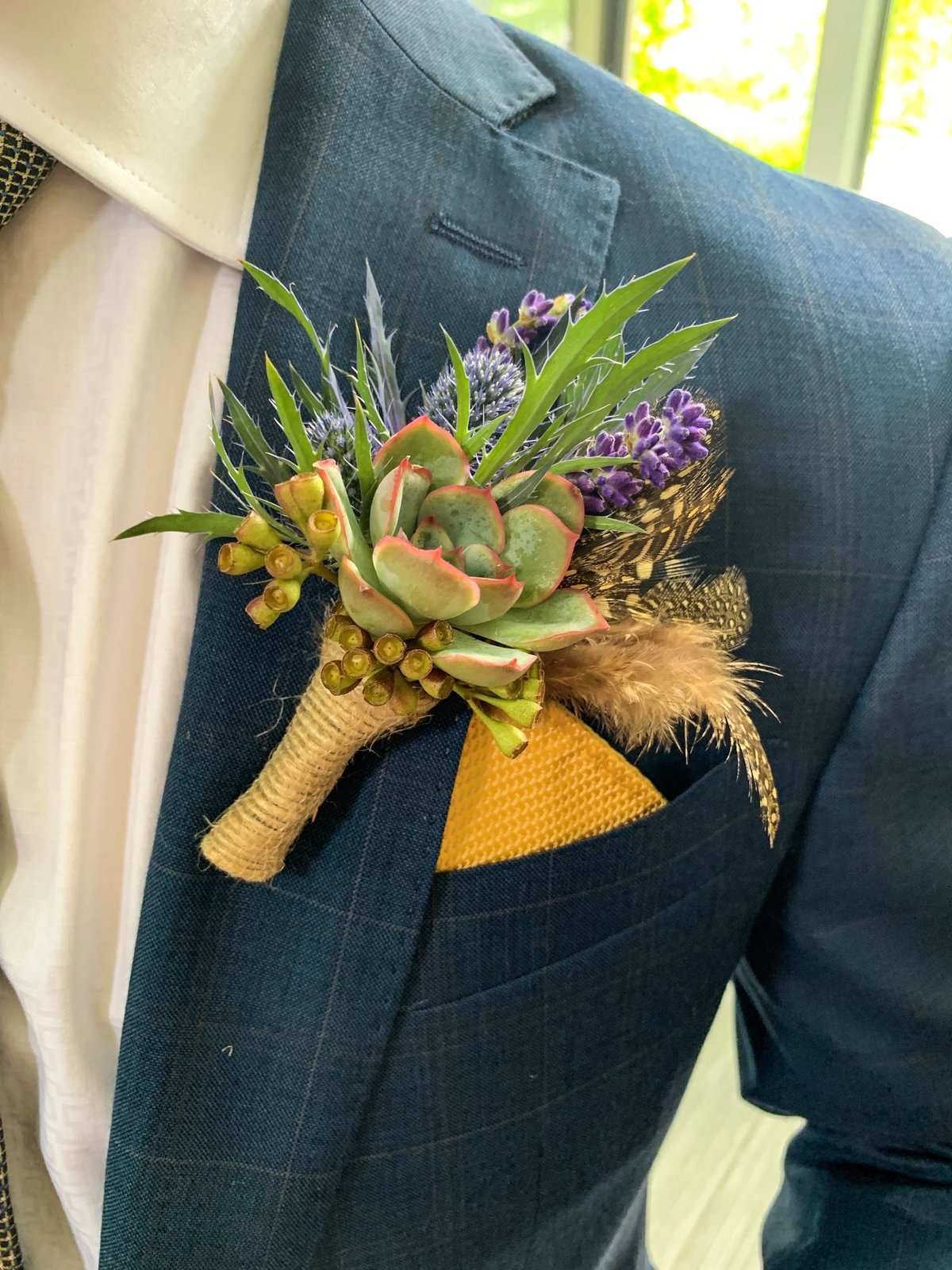 The Addison Succulent Boutonniere