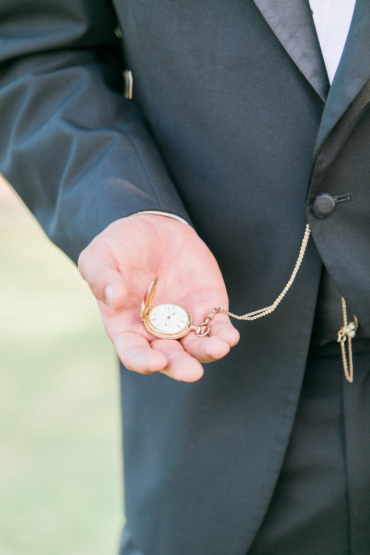 Gold Pocket Watch Groom Accessories