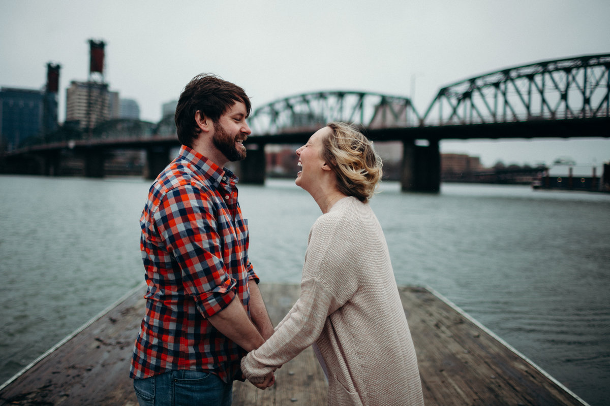 Portland engagement session by Greenville wedding Photographer Simply Violet Photography