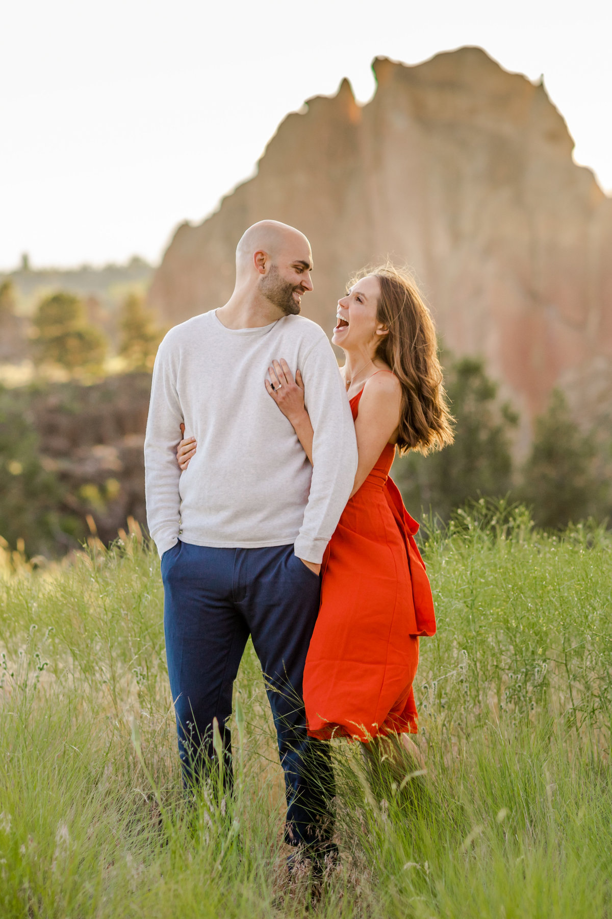 Smith Rock Engagement Session - Bend Oregon-88
