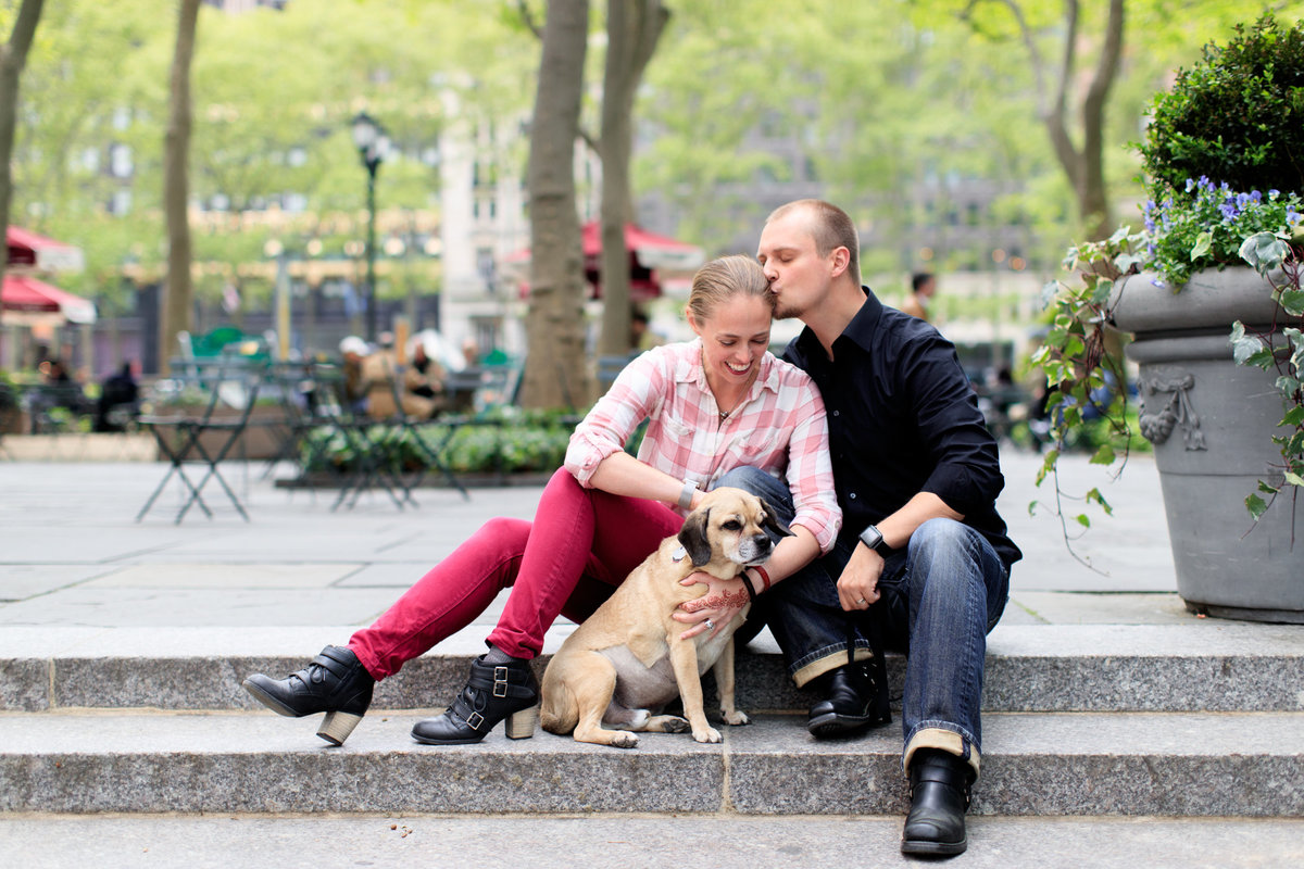 Family with puggle