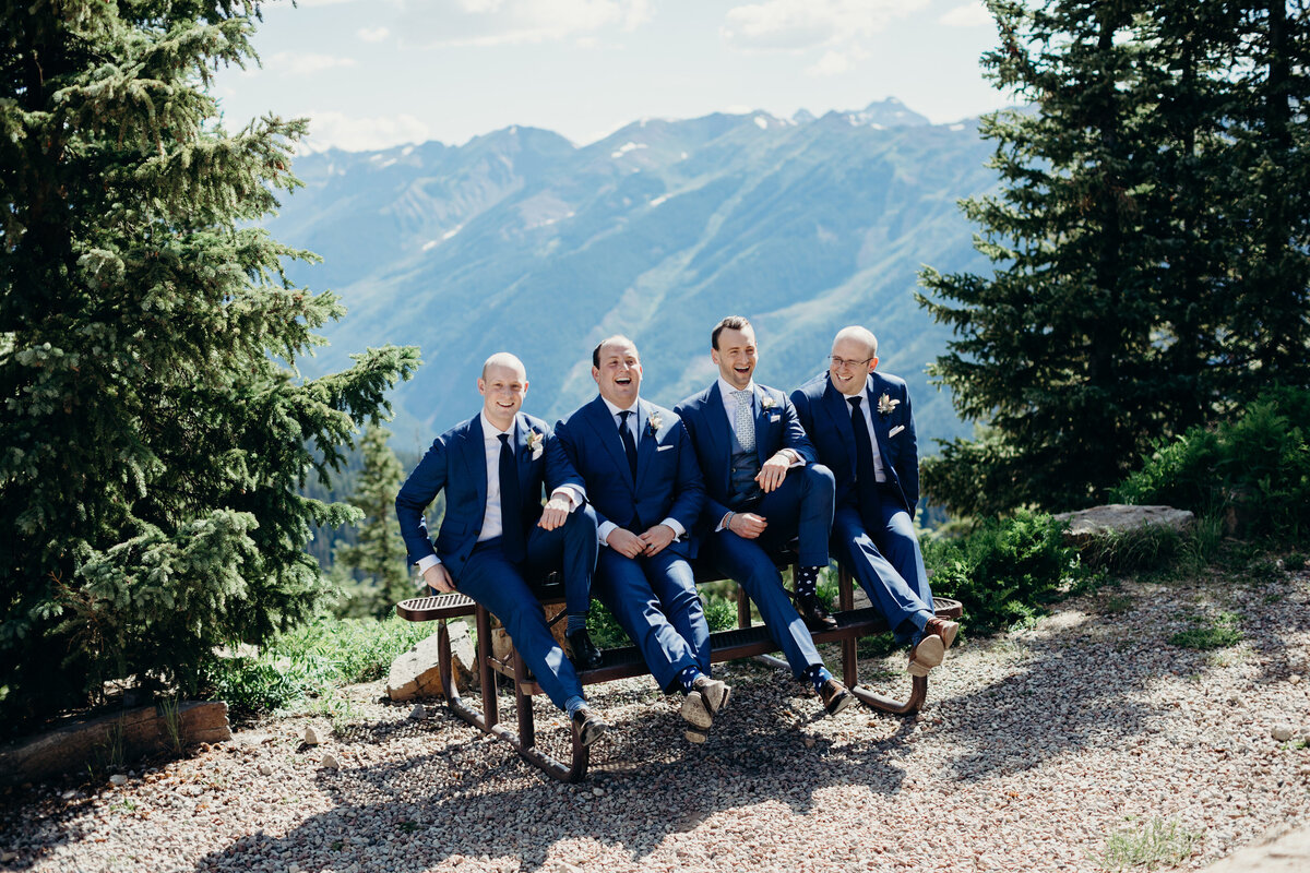 gps-groomsmen-aspen-mountaintop-blue-suits-bench