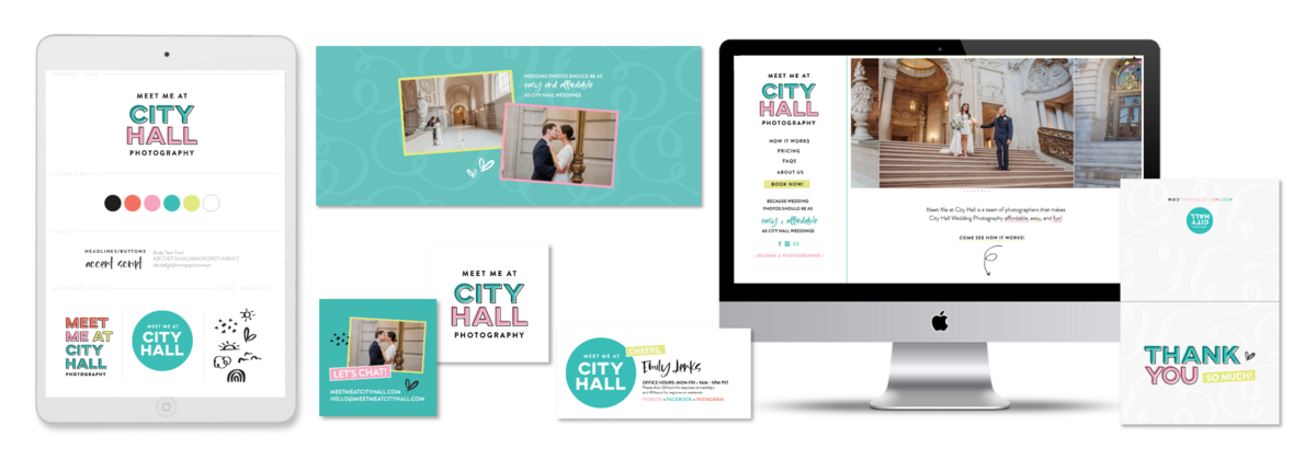 Brand and Showit Website Design for Meet Me at City Hall