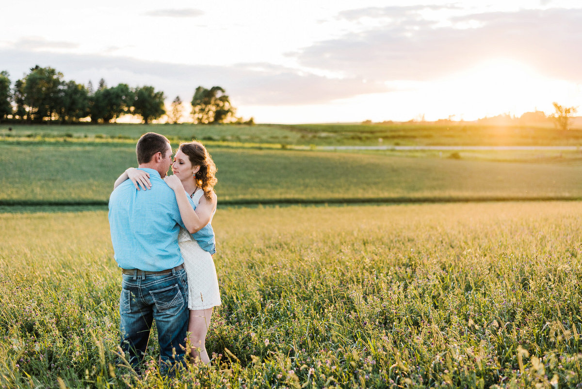 dancing at sunset engagement session Nicole Corrine