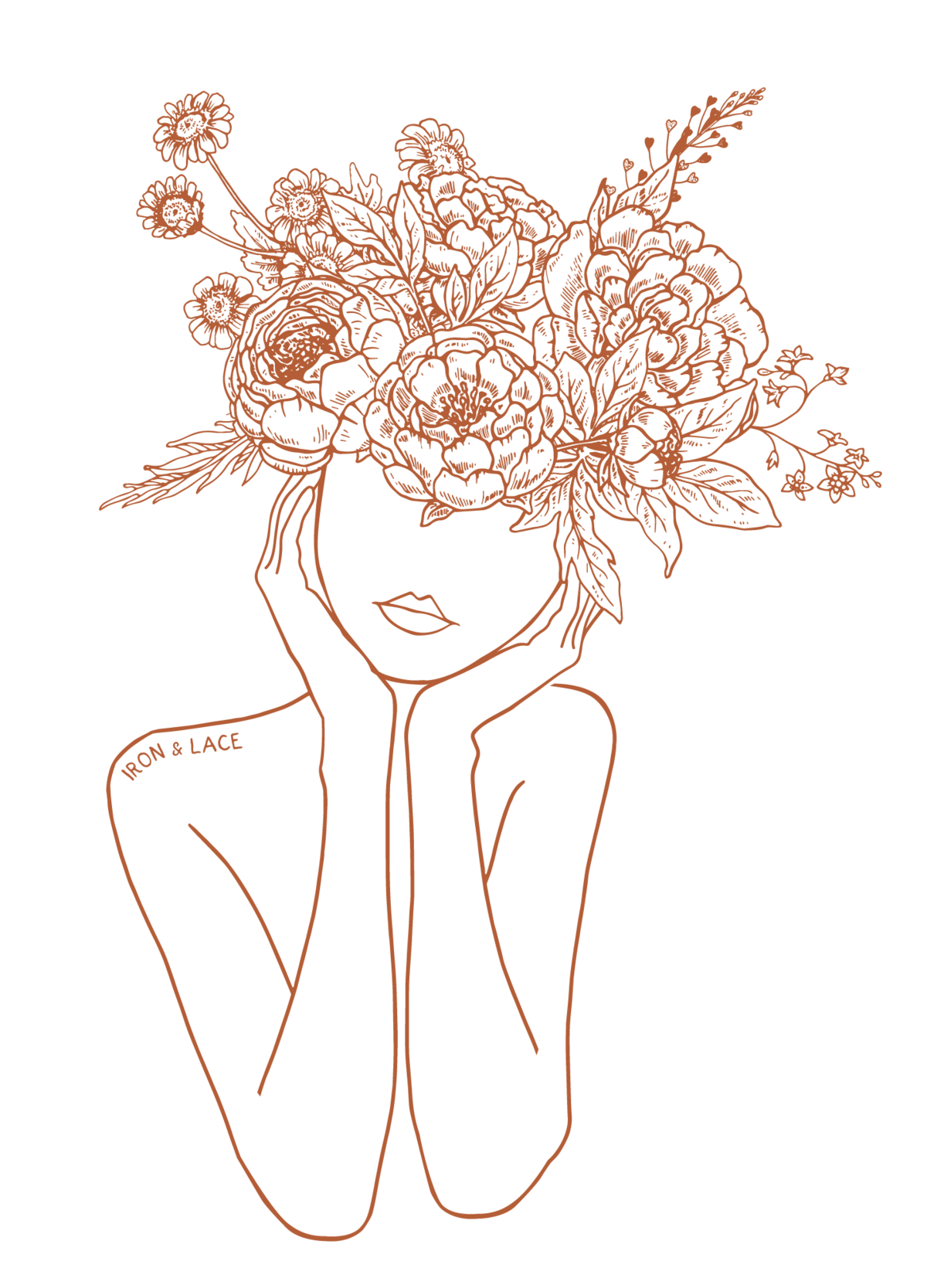 Iron-and-Lace-Girl-with-Flowers-2-Orange