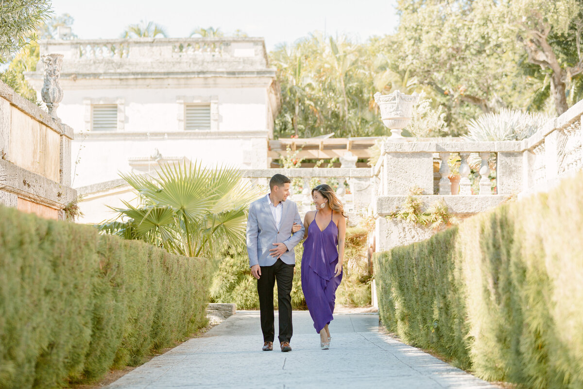 Vizcaya Museum Engagement Photography Session 7