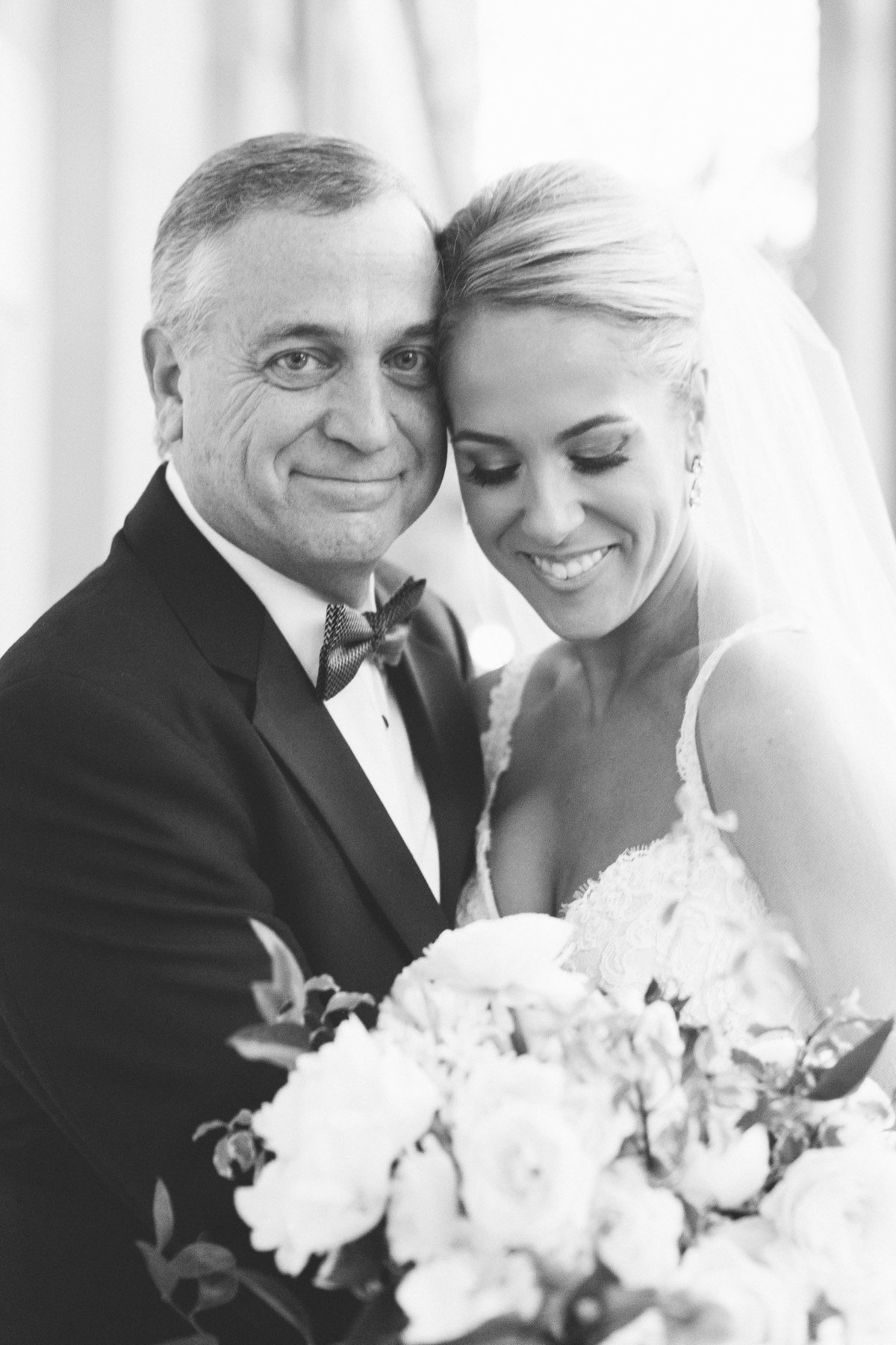 Father daughter portrait idea by real wedding photographer Rebecca Cerasani.