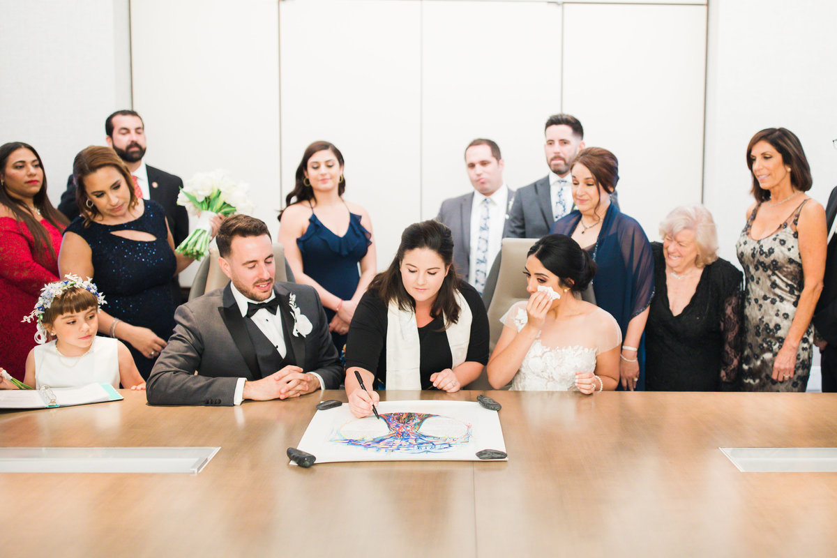Ketubah Signing - Jewish Wedding Photographer