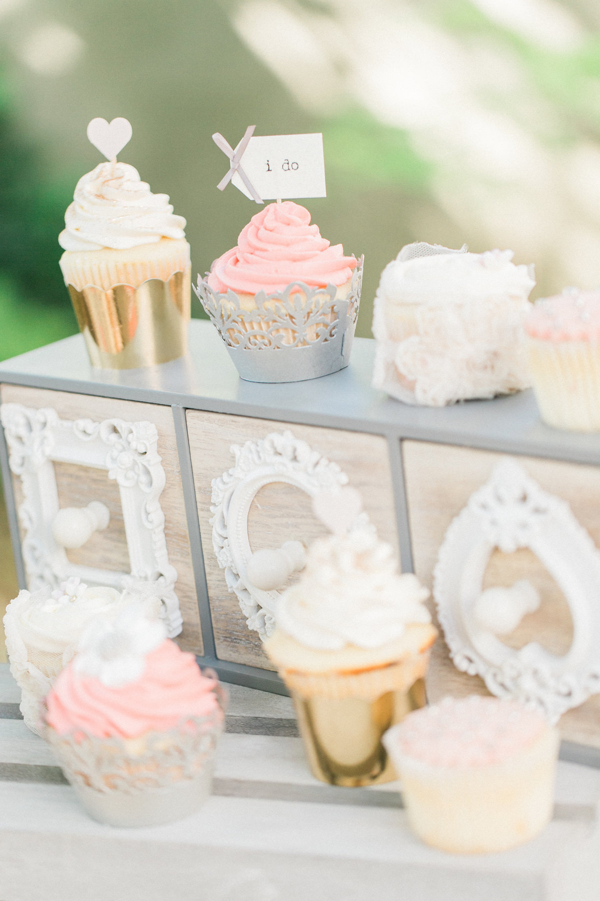 Cupcake Display Sonoma Wedding