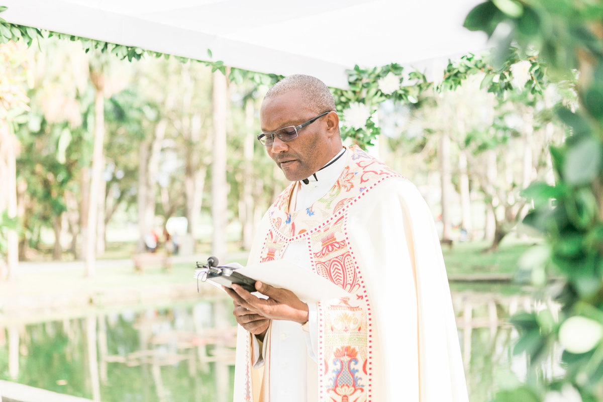 Officiant at Barbados destination wedding