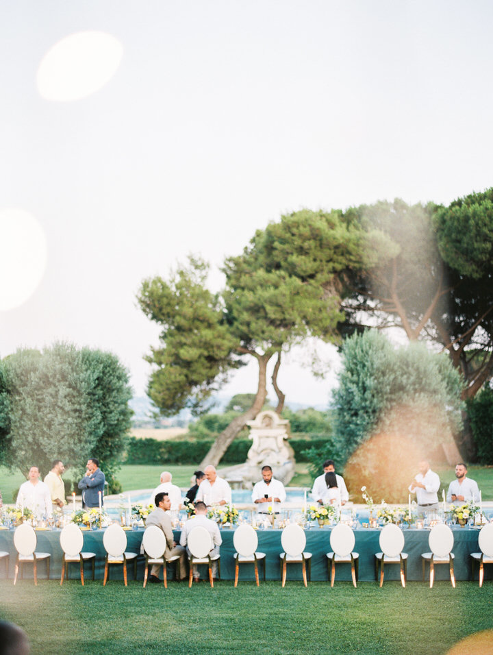 wedding reception at villa di fiorano