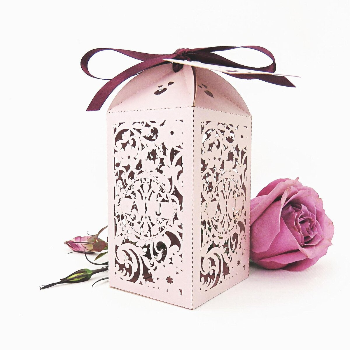 country garden_Wedding_Favour_Box_Tall