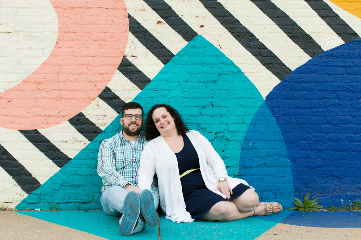 Baltimore Street Art Engagement Photos