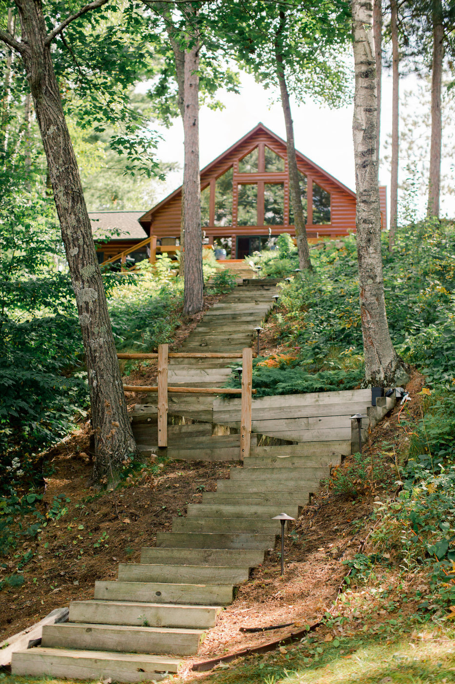 steps up to gull lake home
