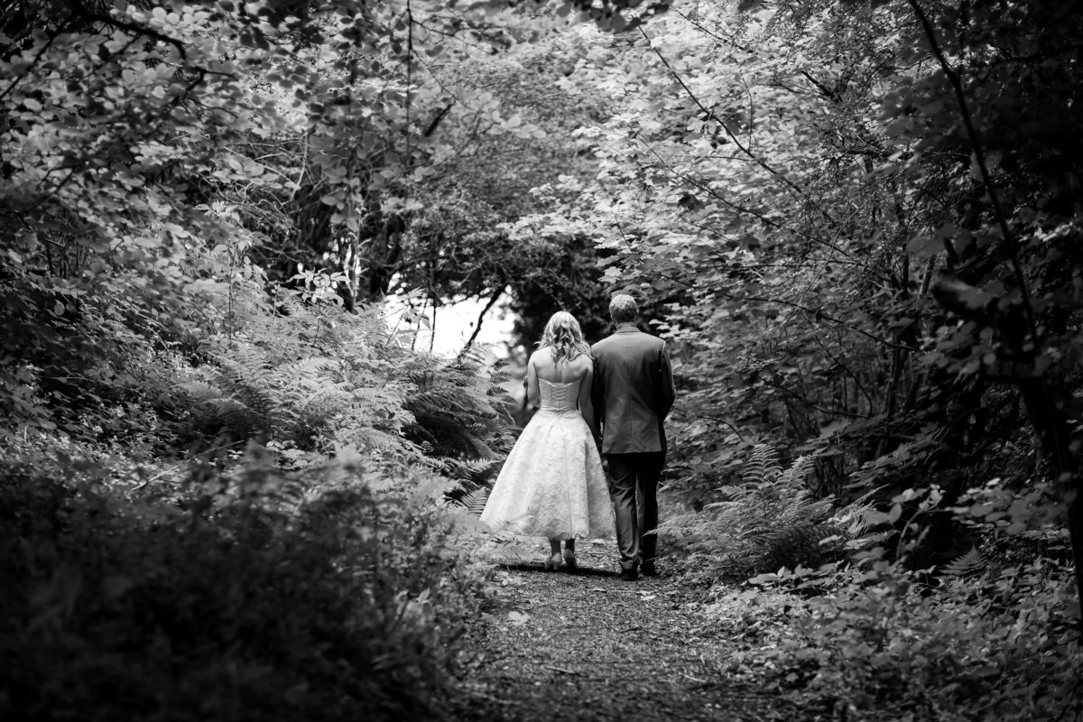 july wedding black and white at the green cornwall
