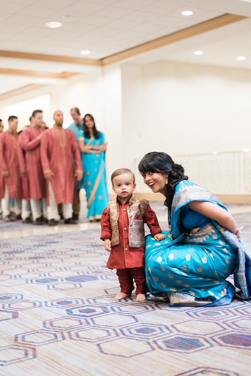 indian wedding mom and son
