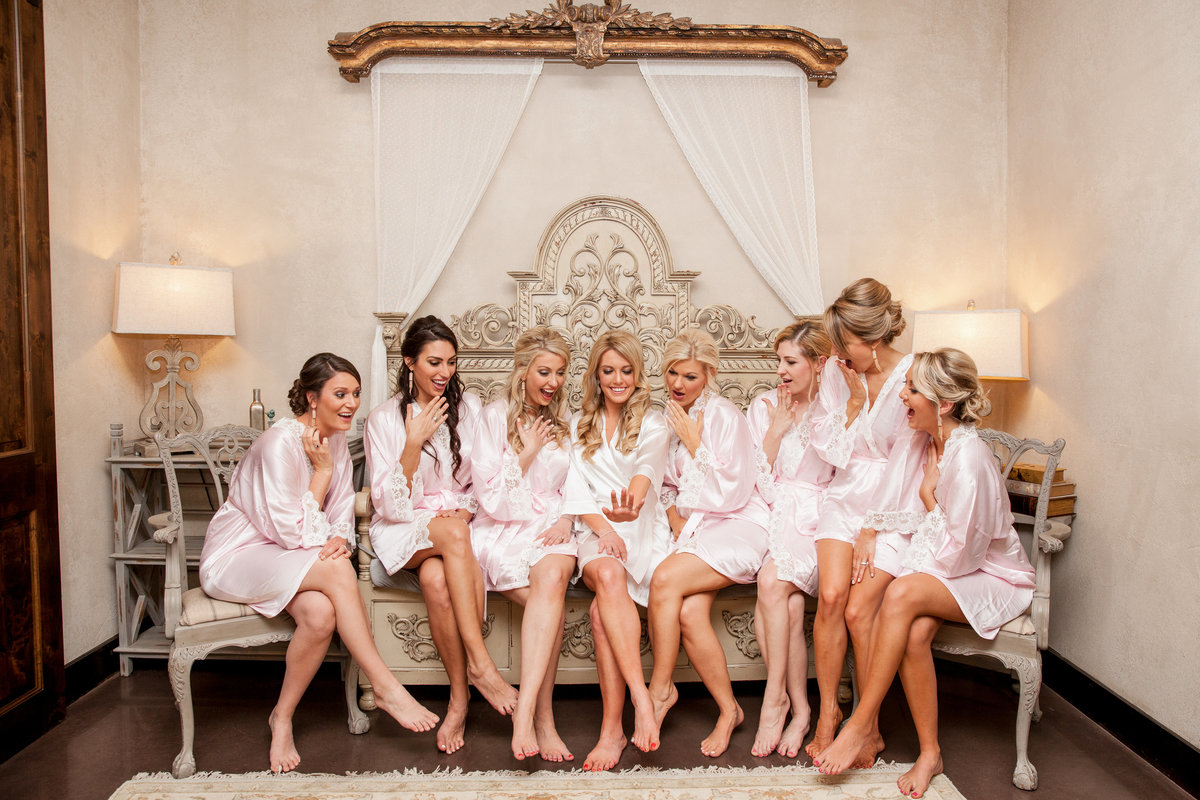 Ma Maison wedding photographer bride bridesmaids cute ring robes 2550 Bell Springs Rd, Dripping Springs, TX 78620