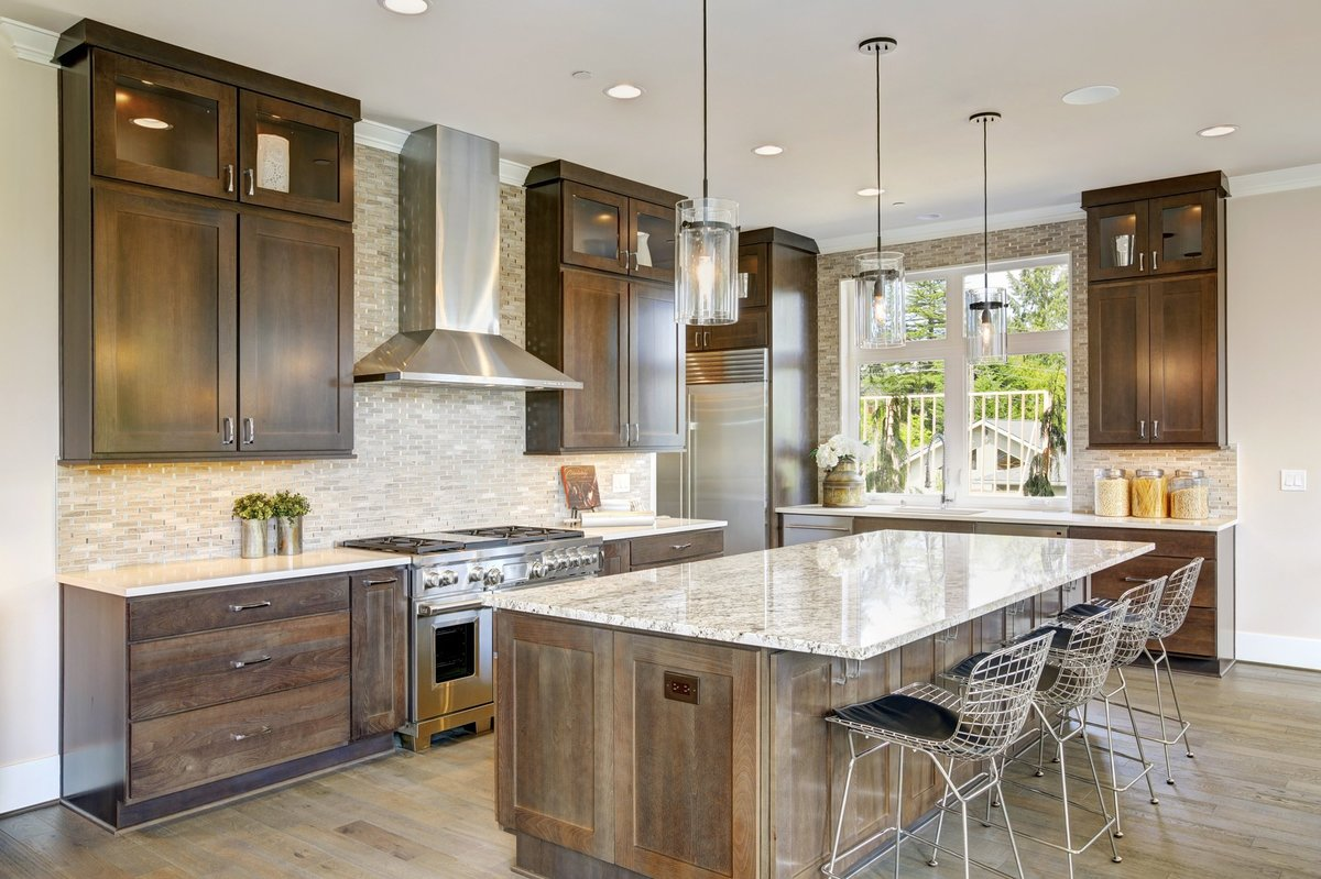 Wood kitchen design with granite countertops Selling Portland Real Estate