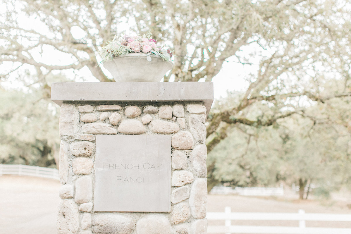 Entrance to French Oak Ranch