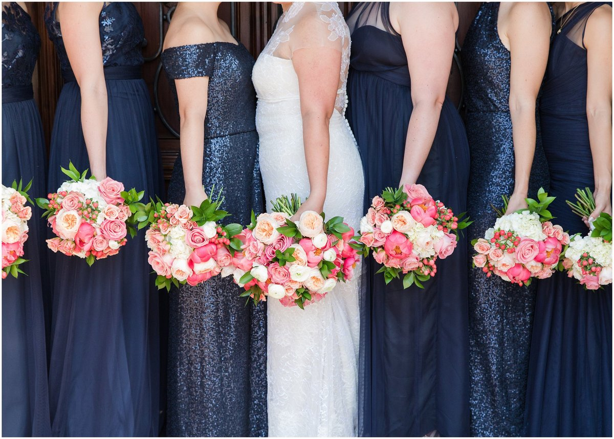 Bride and bridesmaids bouquetes by Kevin and Anna Photography