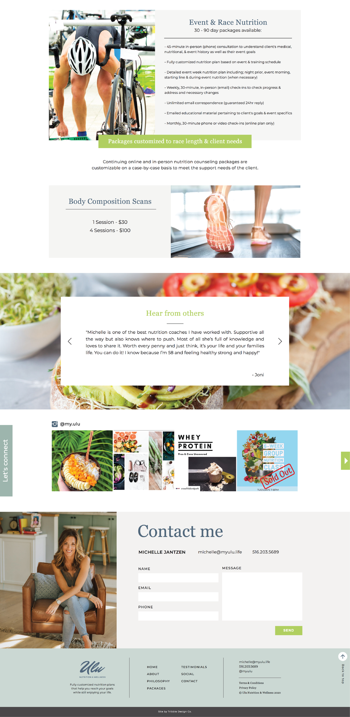 Colorful food website by Tribble Design Co.