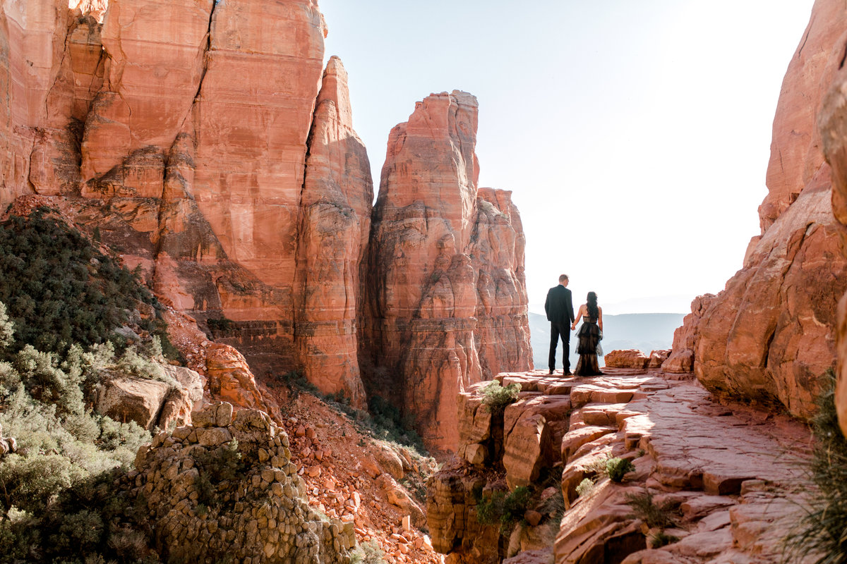 a couple  in cathedral rock
