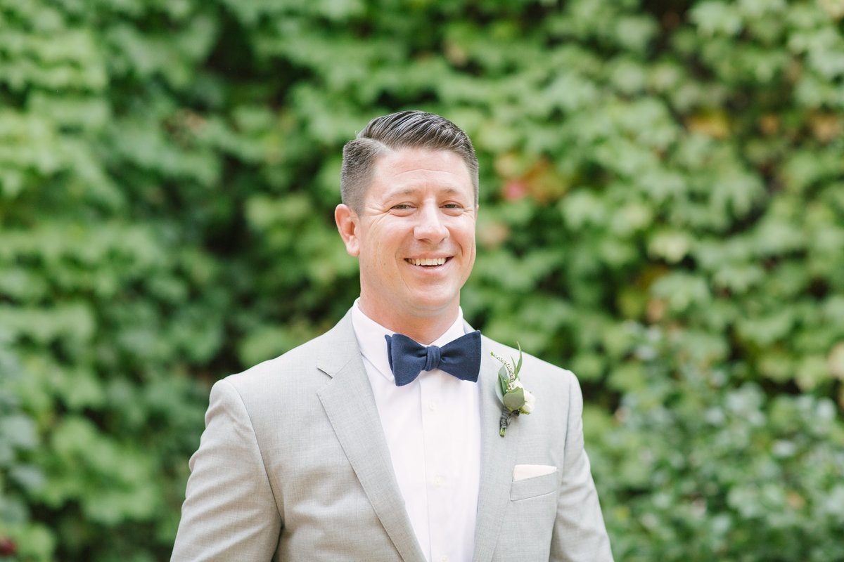 Groom prior to Firestone Vineyard wedding